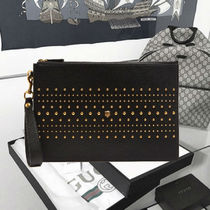 Gucci★Studded grained-leather pouch メタルスタッズポーチ