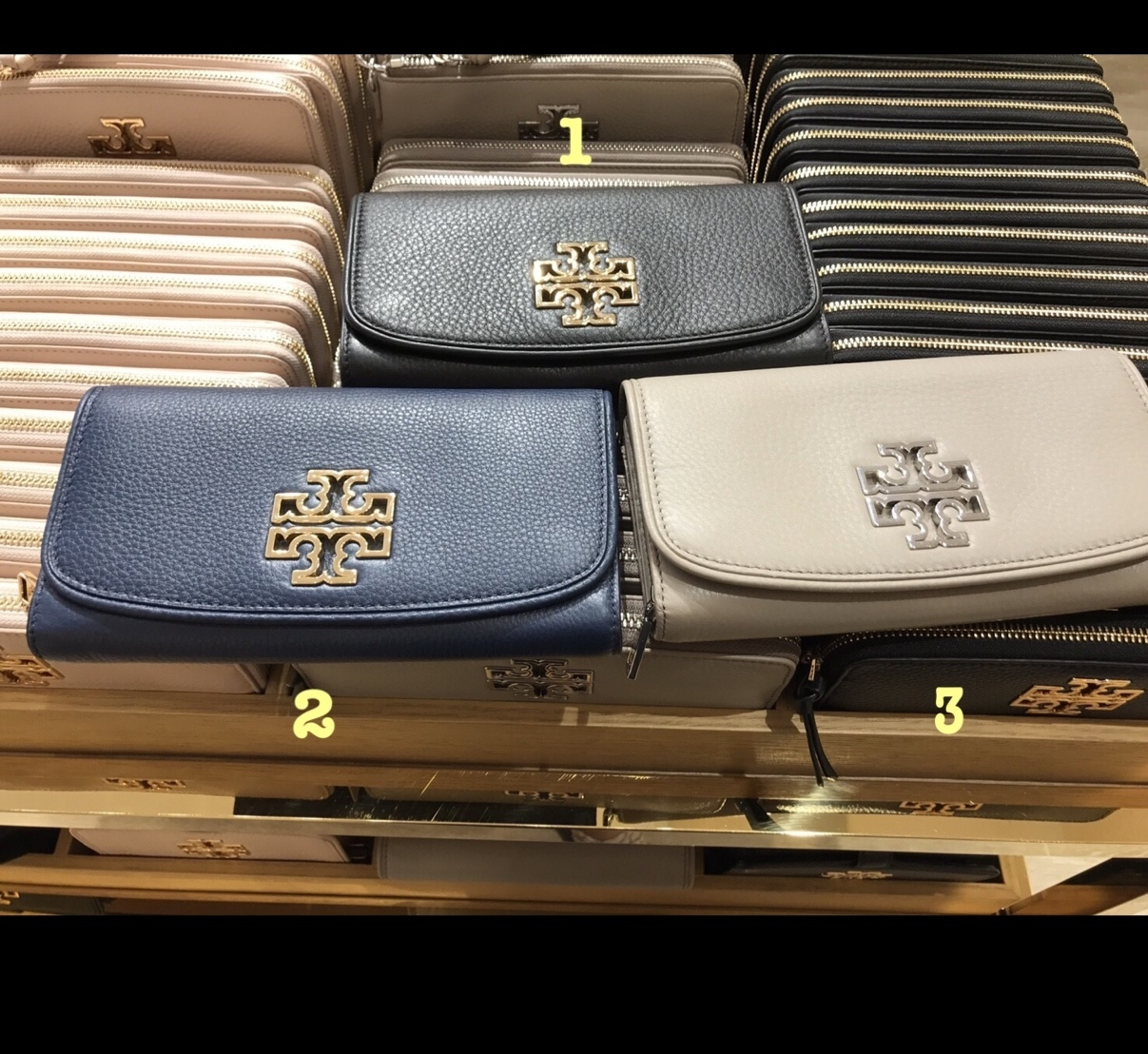 3‐5日着可TORY BURCH☆BRITTEN DUO ENVELOPE CONTINENTAL長財布
