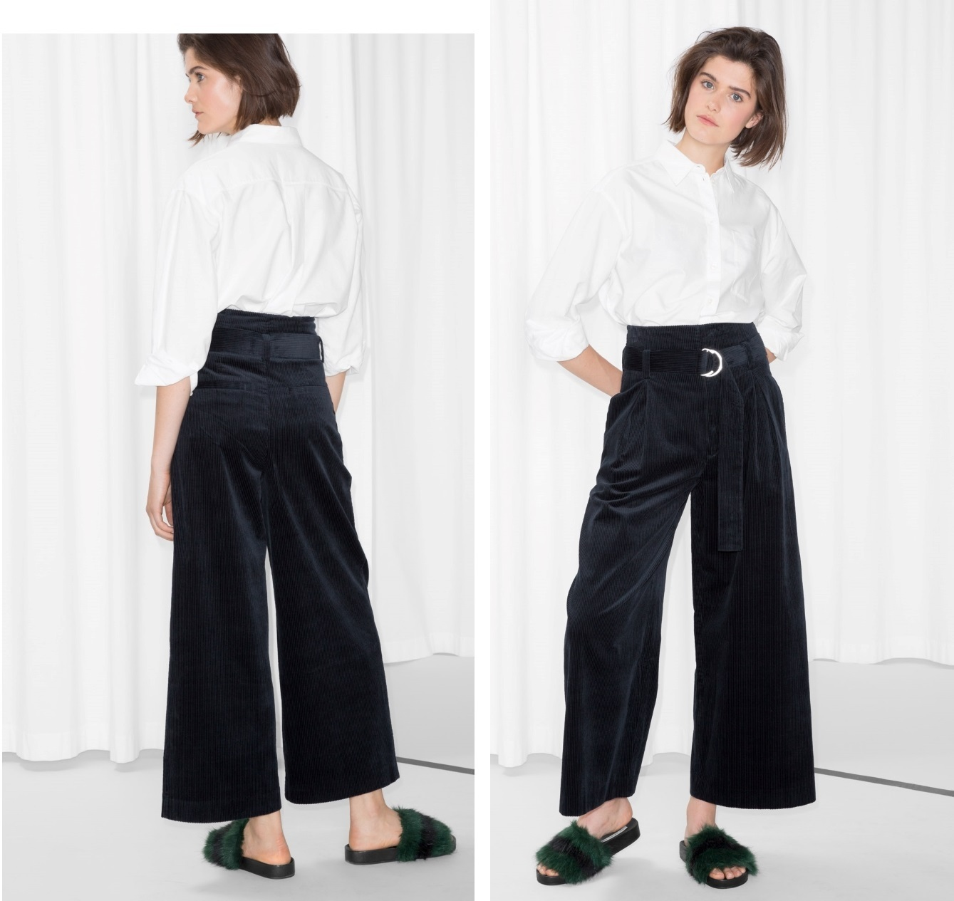 """""""& Other Stories""""Wide Corduroy Trousers Blue"""