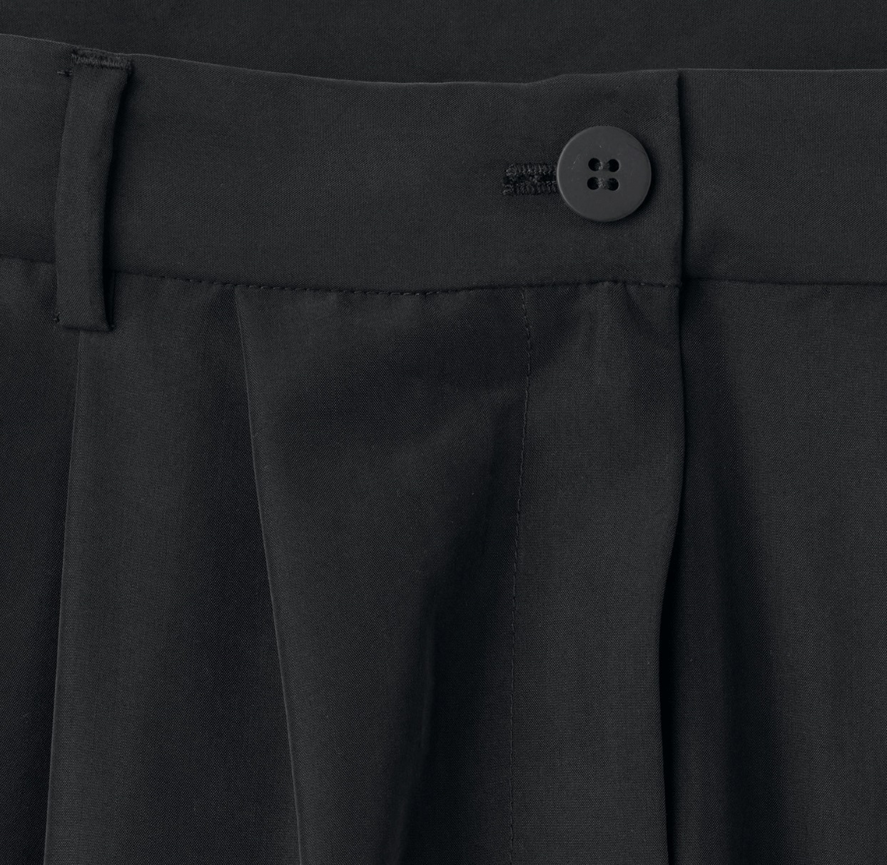 """WEEKDAY""Milly Pleat Trousers Black"
