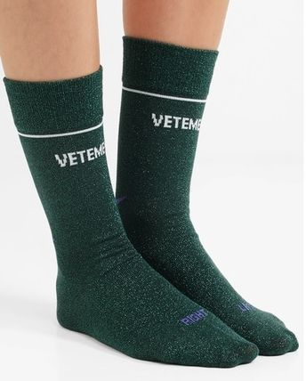 ★関税負担★VETEMENTS★+ REEBOK INTARSIA LUREX SOCKS