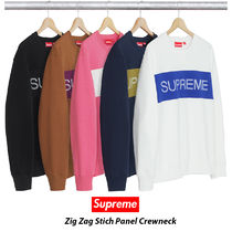 Supreme Zig Zag Stich Panel Crewneck 17AW シュプリーム