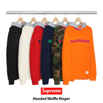 Supreme Hooded Waffle Ringer 17AW シュプリーム 送料込み