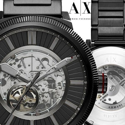 【セール!!】 Armani Exchange☆ ATLC Automatic Watch☆腕時計