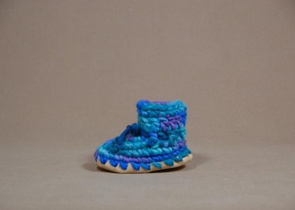 【 Padraig Cottage 】★ Baby Slippers / Blue Multi