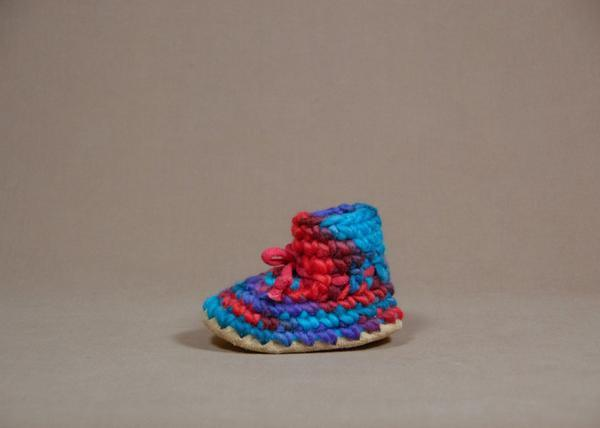 【 Padraig Cottage 】★ Baby Slippers / Red Multi