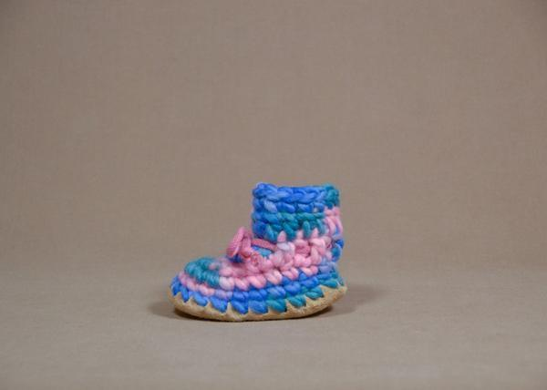 【 Padraig Cottage 】★ Baby Slippers / Pink Multi
