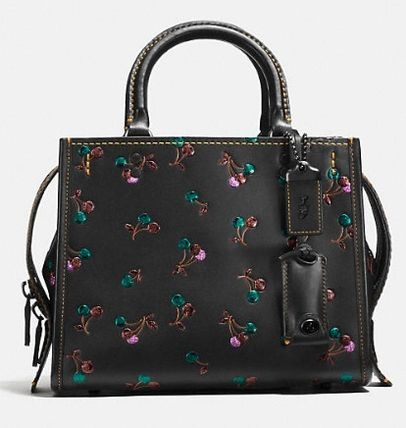 《COACH》Rogue 25 In Glovetanned Leather With Cherry Print