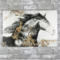 Oliver Gal 大きい 91x61cm Gold and Black Beauty キャンバス