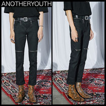 ANOTHERYOUTH(アナザーユース) パンツ ★韓国の人気★ANOTHERYOUTH★CROP FLARE SKINNY BLACK★UNISEX
