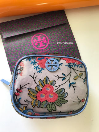 即発 TORY BURCH★PARKER FLORAL COSMETIC CASE 39966