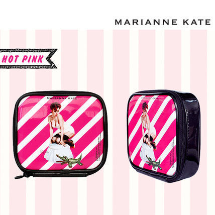 ★Marianne kate★Hello Ladies Multi Pouch (M)hot pink