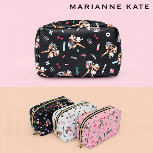 ★Marianne kate★Lucky Dog Multi Square Pouch(BK)