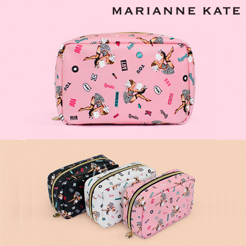 ★Marianne kate★Lucky Dog Multi Square Pouch(pk)