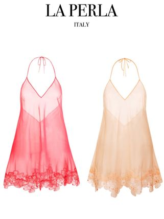 LA PERLA★ENGLISH ROSE Silk stretch chiffon babydoll★