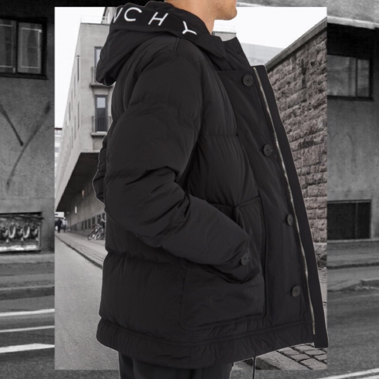【GIVENCHY】Hooded down-padded jacket