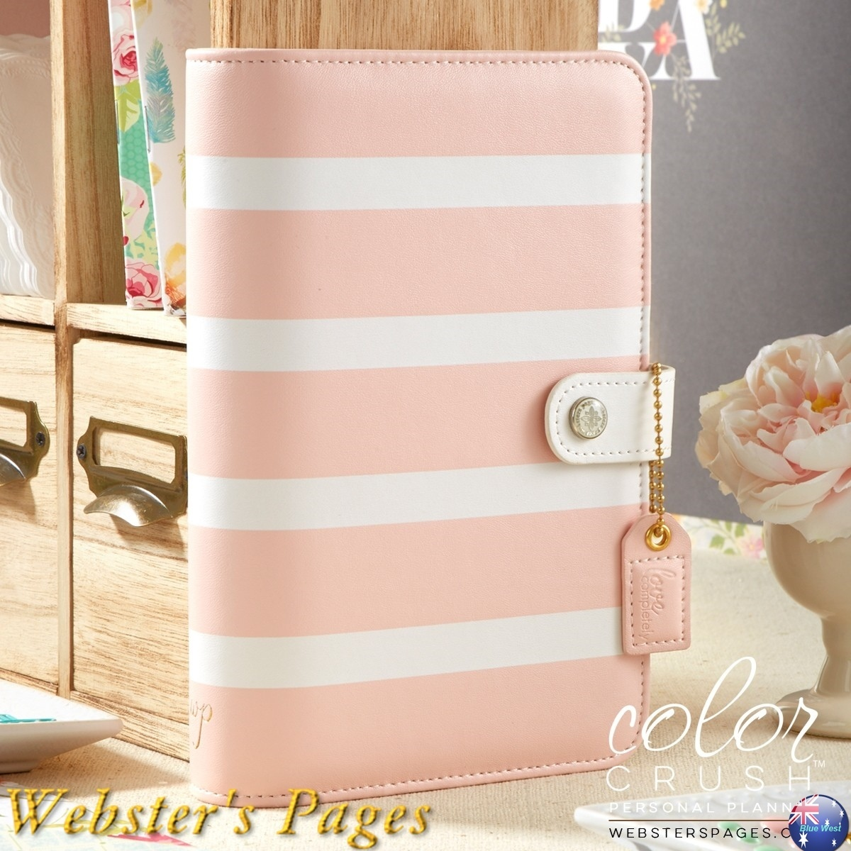 ◇Webster's Pages◇Color Crush Planner/ピンクストライプ/M