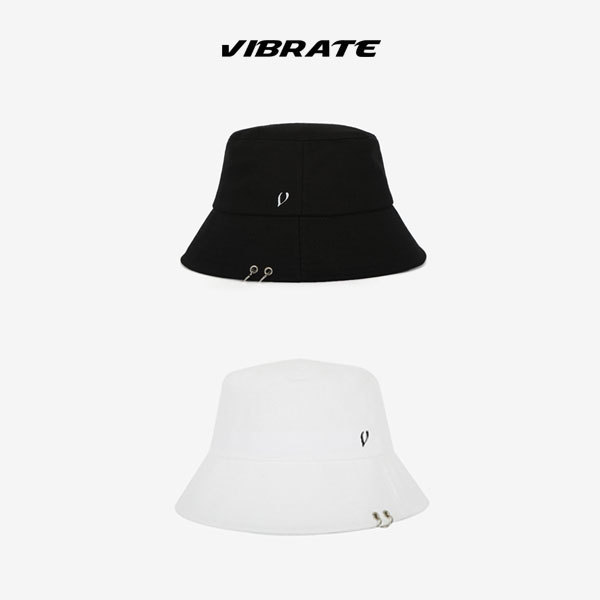 EXO着用ブランド ★VIBRATE★ BLACK LINE TWIN RING BUCKET HAT