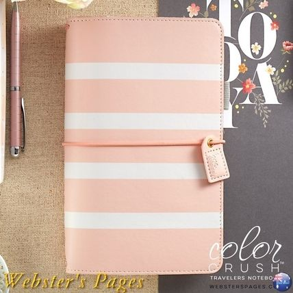 webster's pages 手帳・スケジュール帳 ◇Webster's Pages◇Travelers Notebook/ピンクストライプ