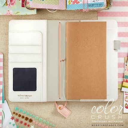 webster's pages 手帳・スケジュール帳 ◇Webster's Pages◇Travelers Notebook/ピンクストライプ (2)