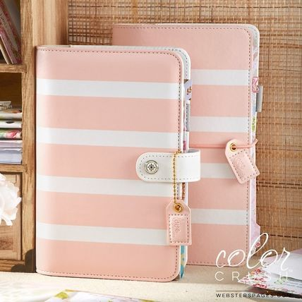 webster's pages 手帳・スケジュール帳 ◇Webster's Pages◇Travelers Notebook/ピンクストライプ (4)