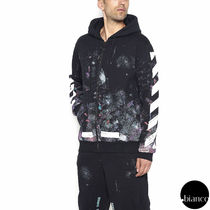 関税込OffWhite DIAG GALAXY BRUSHED ZIP UP HOODIE 完売必至