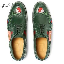 GUCCI◆Appliqued Leather Wingtip Brogues