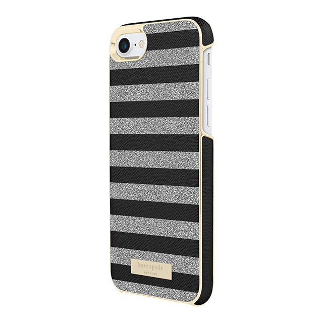 【国内発送】kate spade★新作!Glitter Stripe iPhone8&7 Case