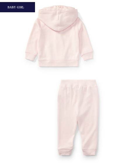 新作♪ 国内発送 3色FRENCH TERRY HOODIE&PANT SET girls 0~24M