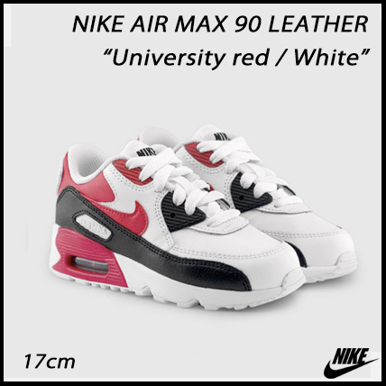 ☆在庫限り☆キッズ AIR MAX 90 LEATHER 'REDxWHITE' (17cm)