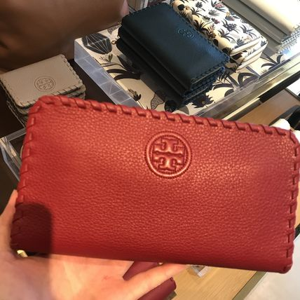 Tory Burch 柔らかレザー★MARION ZIP CONTINENTAL WALLET★赤