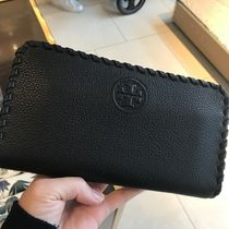 Tory Burch 柔らかレザー★MARION ZIP CONTINENTAL WALLET★黒
