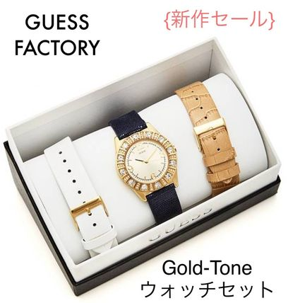 GUESS FACTORY☆限定セール☆ゴールドトーン腕時計セット