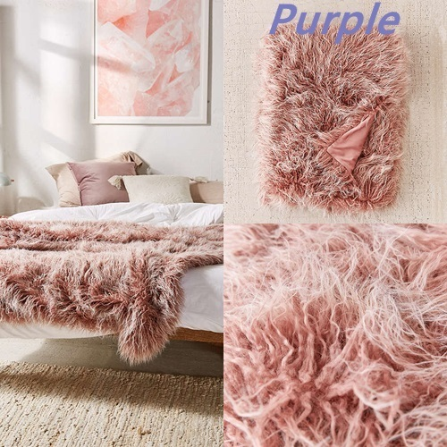 *Urban Outfitters*Marisa Tipped Faux Fur Throw Blanket/3色