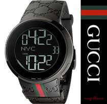 【国内発送】 腕時計 YA114207 I-Gucci Collection rubber watch