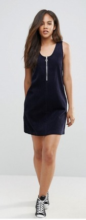 ASOS TALLコードドレスWith Zip Through in Navy