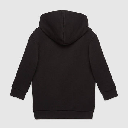 GUCCI キッズ用トップス 人気デザイン!Children's hooded dress/グッチ ロゴパーカー(3)