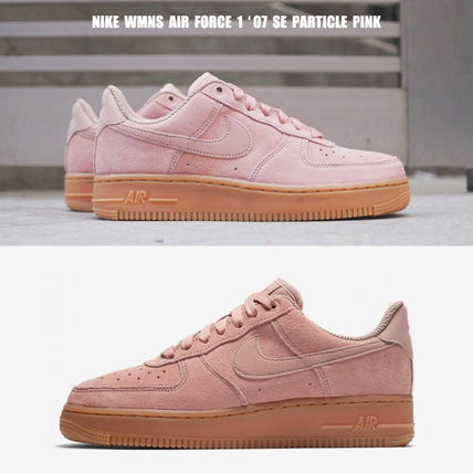 Nike スニーカー NIKE★WMNS AIR FORCE 1 '07 SE★スウェード★PARTICLE PINK
