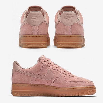 Nike スニーカー NIKE★WMNS AIR FORCE 1 '07 SE★スウェード★PARTICLE PINK(4)
