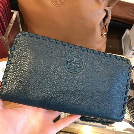 Tory Burch柔らかレザー★MARION ZIP CONTINENTAL★深みグリーン