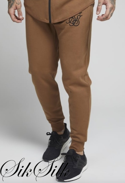 国内発送☆SikSilk★Interlock Poly Tricot Jogger /Tan