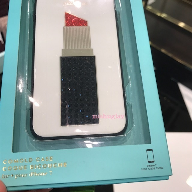 【kate spade】キラキラ★jeweled lipstick iPhone7/8 case★