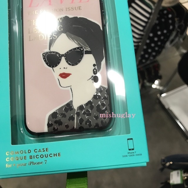 【kate spade】「LA VIE」★jeweled magazine  iPhone7/8 case★