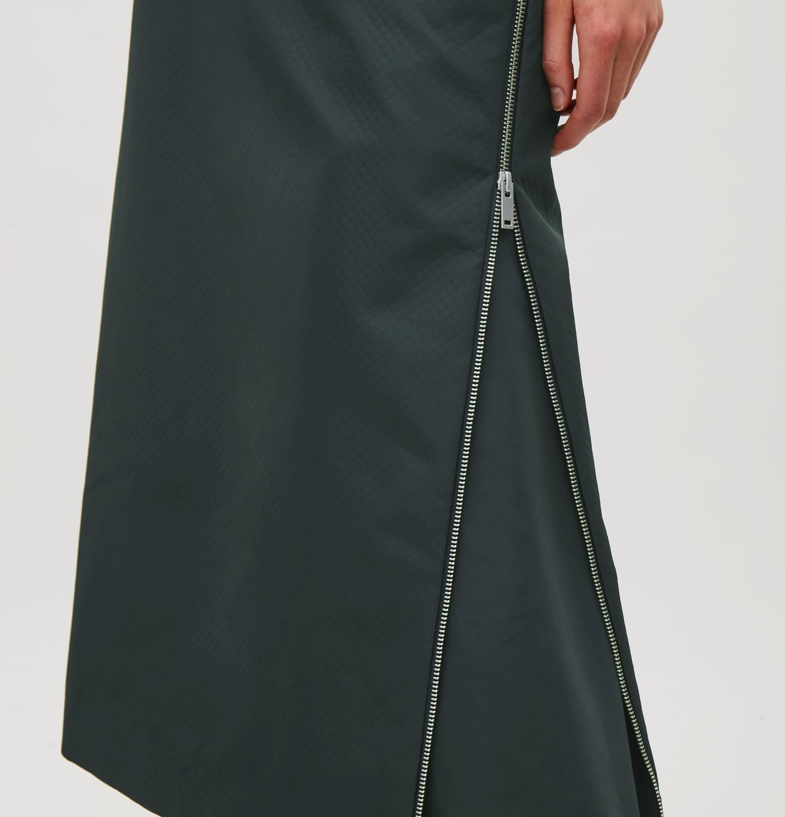 """COS""DOUBLE-ENDED ZIP SKIRT DARKGREEN"