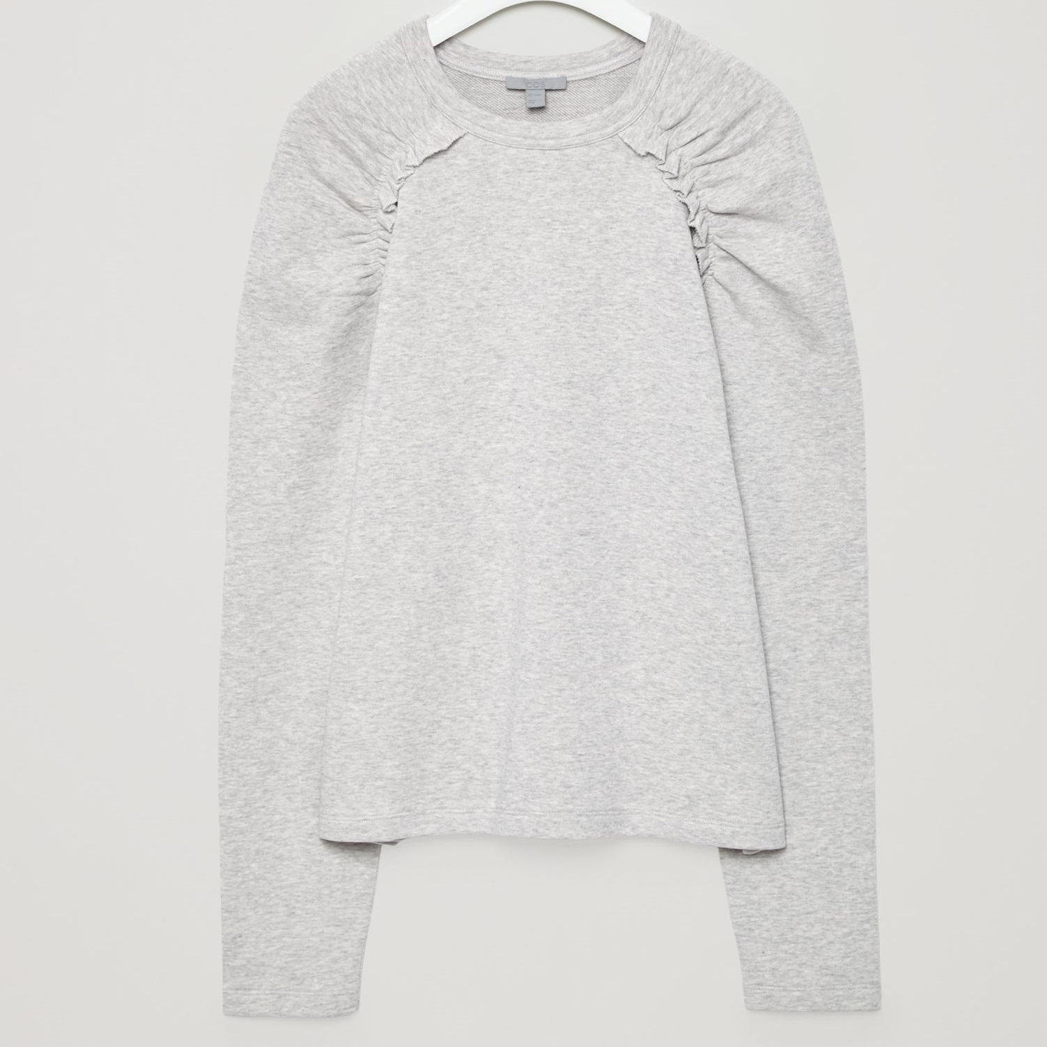 """COS""SWEATSHIRT WITH FRILLS GRAY"