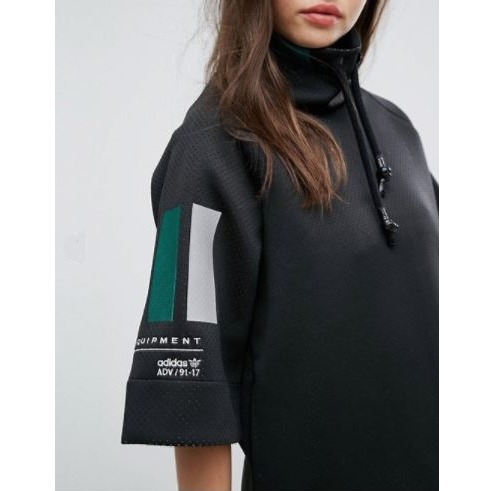 adidas EQT High Neck Sweater In Black♪