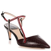 パンプス DIOR / T-strass bordeaux crackled pump