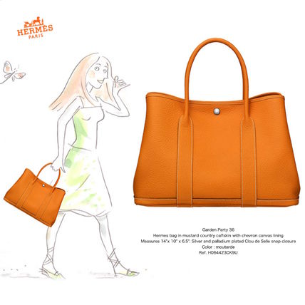 *HERMES*Garden Party 36/moutarde