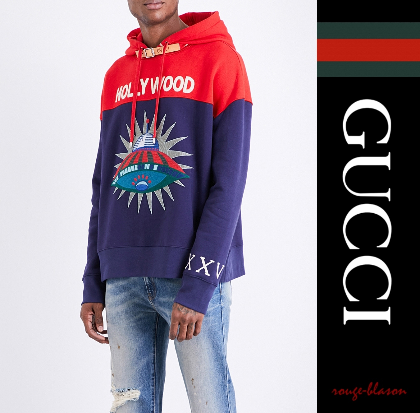 【国内発送】 フーディー Hollywood UFO cotton-jersey hoody