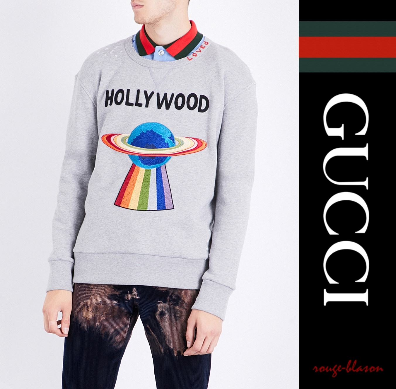 【国内発送】シャツ Hollywood UFO cotton-jersey sweatshirt